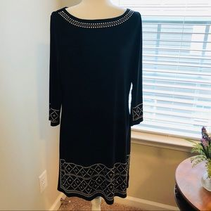 WHBM Black Stretch Jersey Dress